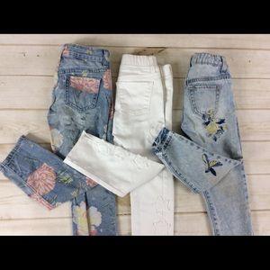 Gap Kids Girls Skinny Jeans Lot of 3 Sz 5/6